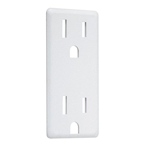 - TayMac AD60W Paintable Decorator Outlet Cover-Up Adapter Plate, White