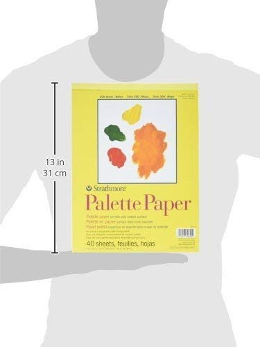Strathmore 365-9 300 Series Palette Pad, 9''x12'' Tape Bound, 40 Sheets (Тwo Рack, White)