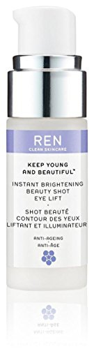 (Ren Keep Young & Beautiful Instant Brightening Beauty Shot Eye Lift By Ren for Women - 0.5 Oz Serum, 0.5 Oz)