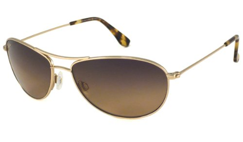 Maui Jim Baby Beach  Aviator Sunglasses, Gold Frame/HCL Bronze Lens, One Size