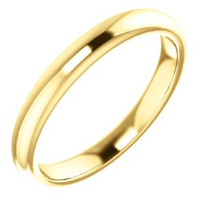 Jambs Jewelry 14K Yellow Band for 7x5 mm Emerald Ring ()