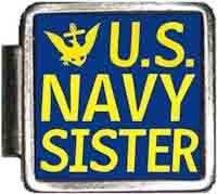 US Navy Sister Italian Charm Bracelet Jewelry Link A10424