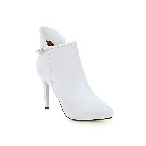 White Pinker Winkle Materials Zipper Girls Boots BalaMasa Stiletto Blend tqwR88C