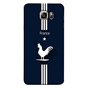ColorKing Samsung S6 Edge Football Blue Case shell cover - Fifa France 01
