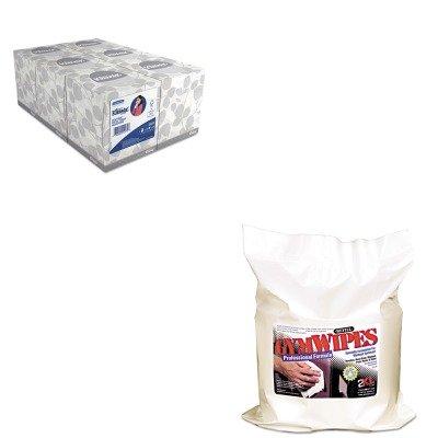KITKIM21271TXLL38 - Value Kit - Gymwipes Professional Wipes Refill (TXLL38) and KIMBERLY CLARK KLEENEX White Facial Tissue (KIM21271)