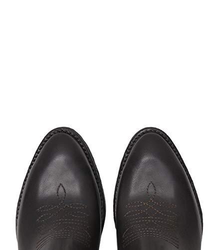 Bottines Pour Cuir Ashley Femmes Marron Chaussures Souple Santiags Poilei Bloc wYORqA5