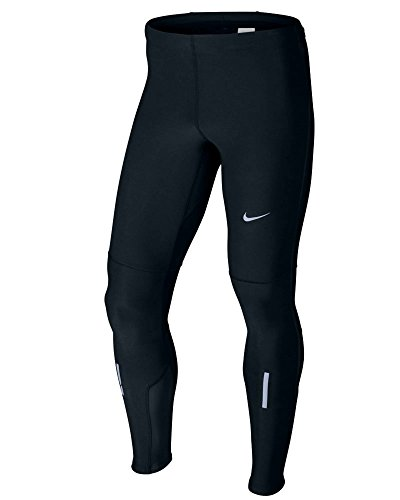 Nike Mens Black Solid Dri Fit Tech Essential Stay Warm Running Tights, Black, Large