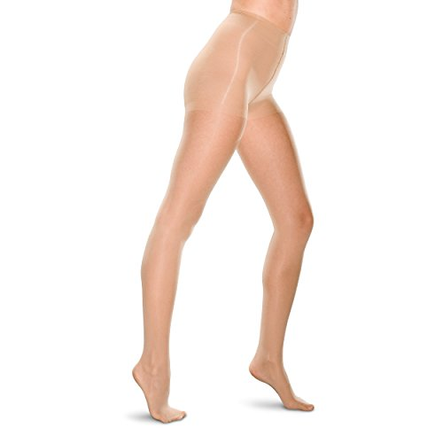 (Therafirm LIGHT Women's Support Pantyhose - 10-15mmHg Compression Stockings (Natural, XL))