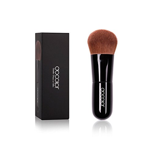 Deewin Professional Kabuki Foundation and Powder Makeup Brush Cute and Portable Cosmetic Tool for Face (Black