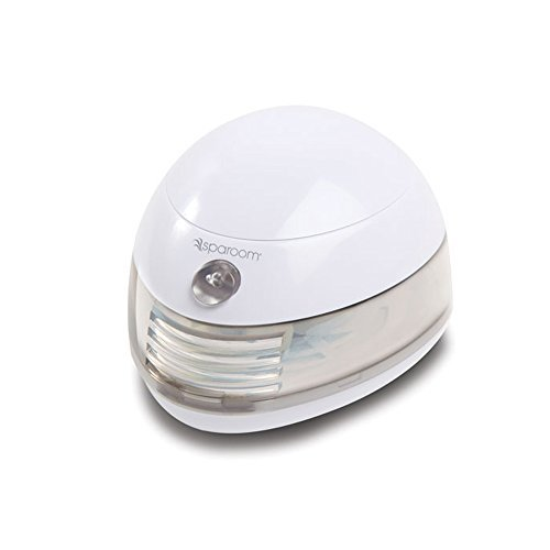 6 Free Pads SpaRoom Aromafier Portable Fragrance Essential Oil Diffuser, Battery and USB Computer Powered Aromatherapy, White with (9 Total Pads) - Extra Surprise Gift - for a Limited time ()