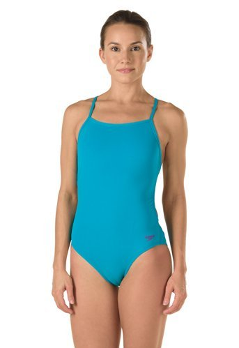 672933f2bc Galleon - Speedo The One Back Solid - Endurance Lite, Tropical Teal, 32