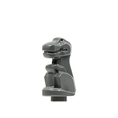 Lego Adventures Baby T-rex Minifigure (Dark Gray): Toys & Games