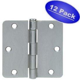 Cosmas Satin Nickel Door Hinge 3.5 Inch x 3.5 Inch with 1 4 Inch Radius Corners - by Cosmas