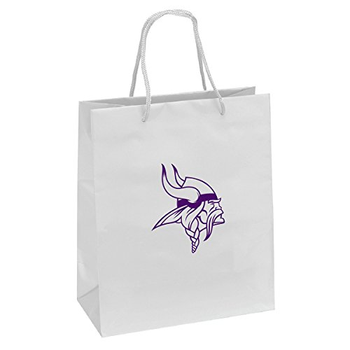 Pro Specialties Group NFL Minnesota Vikings Gift Bag, White/Purple, One - Pro Specialties Bag