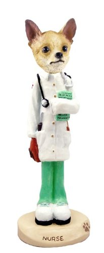 Chihuahua Tan/White Nurse Doogie Collectable Figurine