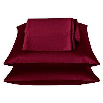 350tc solid burgundy soft silky