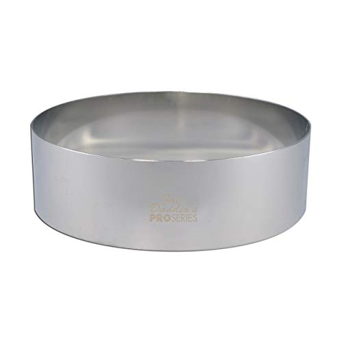 Fat Daddio's Stainless Steel Round Cake and Pastry Ring, 8 Inch x 2 Inch