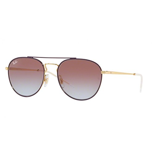 Ray-Ban Women's Metal Woman Square Sunglasses, Gold Top on Violet, 55 - Ban Ray Sunglasses Colored