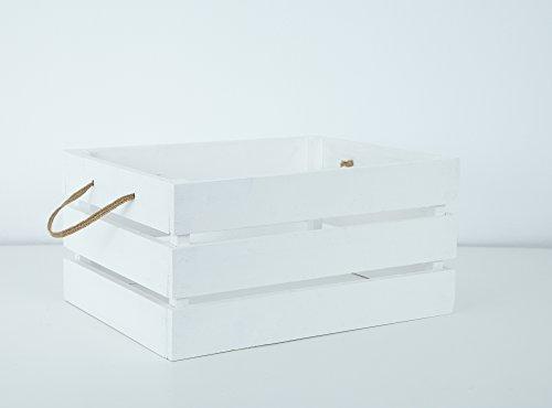 Caja de Madera Blanca Decapada: Amazon.es: Handmade