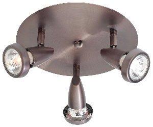 Mirage - 3-Light Cluster Spotlight - Brushed Steel Finish