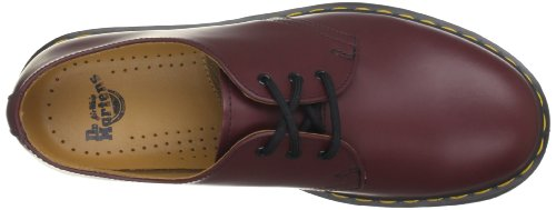 Dr. Martens 1461 Pw, Flâneurs mixte adulte - noir, UK EU Rouge (Cherry Red Smooth)