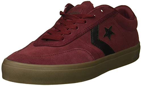Burgundy Suede Shoes - Converse Men's Courtlandt Suede Leather Accent Low Top Sneaker, Dark Burgundy/Black/Brown, 12 M US