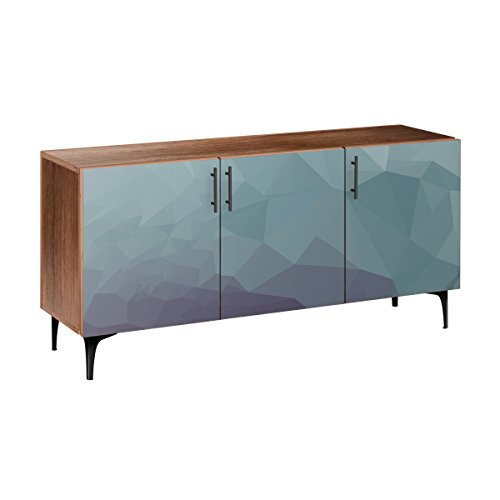 Nye Koncept 13005572 Chilly Topography Arc Sideboard44; Walnut & Black from Nye Koncept