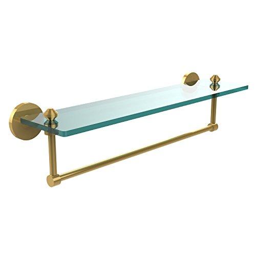 Allied Brass SB-1TB/22-PB Glass Shelf with Towel Bar, 22-Inch x 5-Inch by Allied Brass