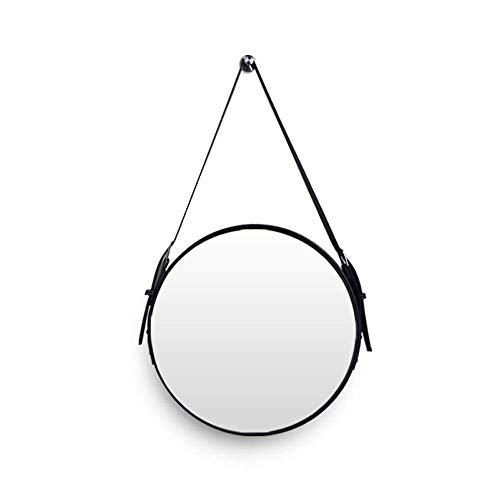 (Giow Simple Modern Wall-Mounted Round Bathroom Mirror Decorative Mirror Hotel Bathroom Mirror Dining Room Living Room Belt Retractable Mirror A++ (Color : B, Size : 50x50cm))