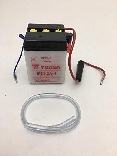 Batterie Yuasa 6n4 2a 4 6v 4ah Yamaha 250 Cc Xt Auto