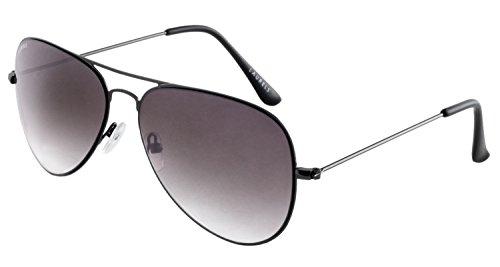 Laurels UV Protected Aviator Unisex Sunglasses -(IND-1001|Black Lens)