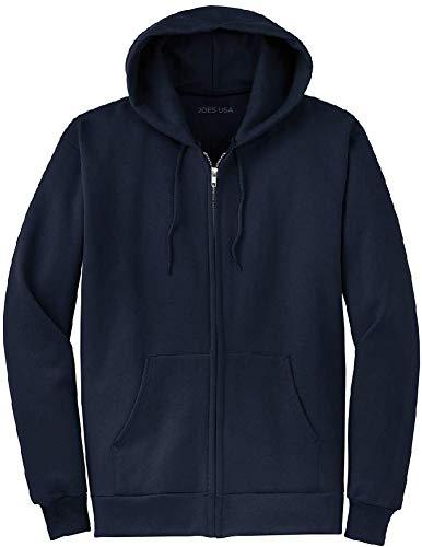 Joe's USA Full Zipper Hoodies - Hooded Sweatshirts Size 4XL, Navy