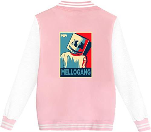 Sonrisa Béisbol De Dibujo Rosado Logo Mellogang Dj Deportiva Moda Chaqueta Alas Mujer Marshmello Emilyle wYq8AAU