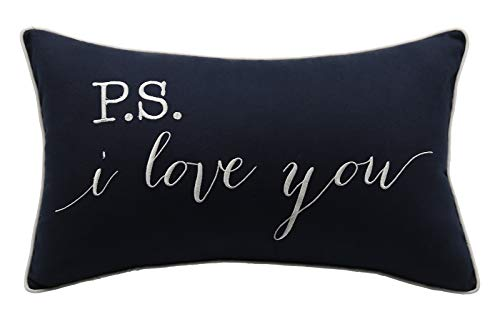 YugTex Pillowcase P.S.I Love You Quote Pillow Cover, Throw Pillow, Gift Pillow, Gift for him, Gift for her,Wedding Gift, Bridal Shower Gift, (12