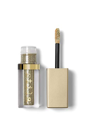 stila Magnificent Metals Glitter & Glow Liquid Eye Shadow, Gold Goddess (Sheer Antique Gold with Silver Sparkle)]()