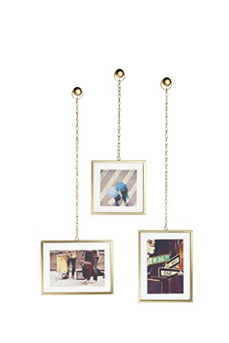 (Umbra Fotochain Photo Display, Set of 3, Matte Brass)