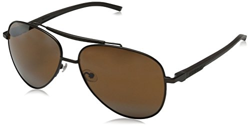 Tag Heuer Automatic88120360 Aviator Sunglasses,Brown & Black