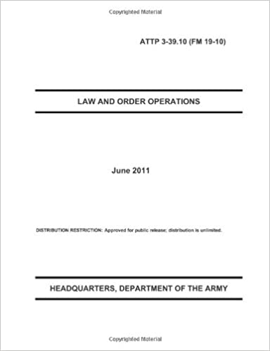 Law And Order Operations Department Of The Army