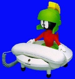 Marvin The Martian Telephone Toshiba Looney Toons Tronics