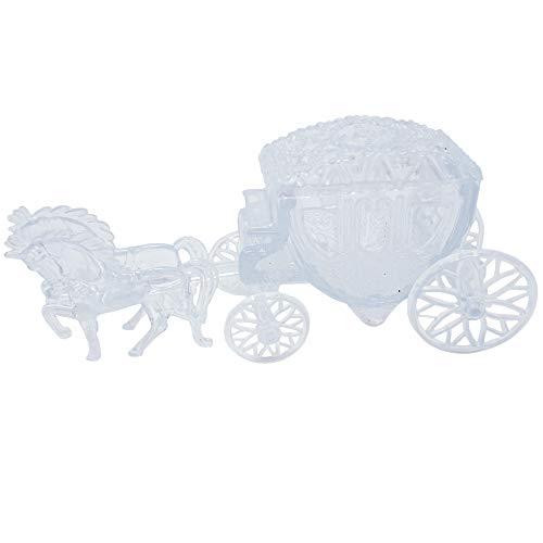 Mini Cinderella Horse & Carriage Coach Set Cake Topper Centerpiece Keepsake - Clear