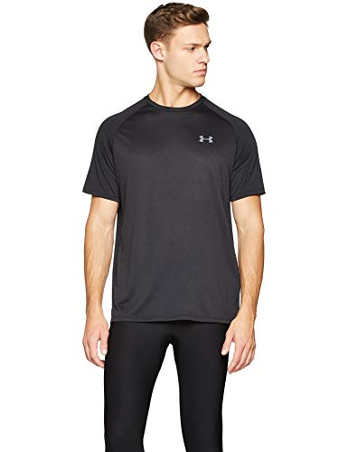 - Under Armour mens Tech 2.0 Short Sleeve T-Shirt, Black (001)/Graphite, X-Large Tall