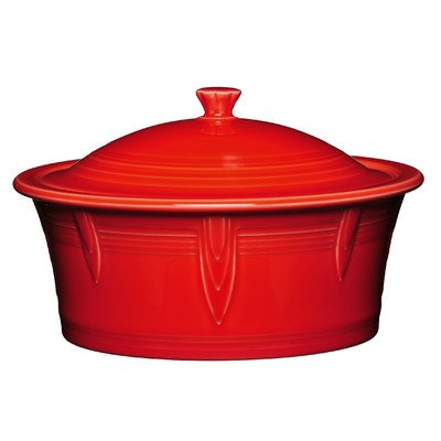 2.81 Qt. Round Covered Casserole Color: Scarlet