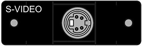 FSR IPS-V311S-LB-BLK Video Connector Insert (Labeled) (S-video Bulkhead)