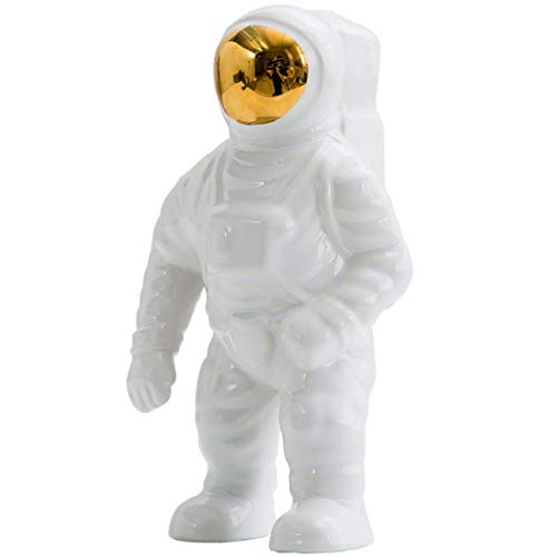 - JDSHSO Space Man Sculpture Astronaut Statue Rocket Creative Gift Resin Material Home Office Bar Cafe Children Room Ornaments
