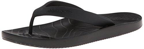 crocs Men's OM427 Manaia II Flip M Clog,Black/Black,13 M US