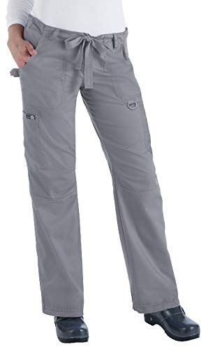 KOI 701 Women's Lindsey Pant (Platinum Grey, Large) by KOI
