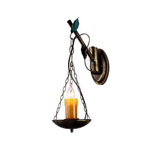 ZH Wall Lamp Loft Vintage Industrial Wall Lamp European Nostalgic Personality Resin Lampshade Antique Cafe Bar Network Gamma E14 Iron Wall Light