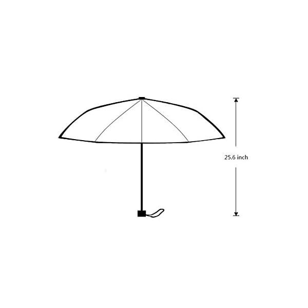 Artsadd Fashion Umbrella Poodle Umbrella Black Foldable Sun Rain Travel Umbrella 6