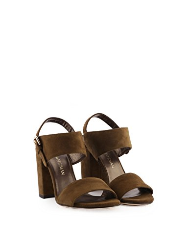 shopping online prices for sale Stuart Weitzman Women's PARTISANGREEN Brown Suede Sandals big discount tumblr l5nH7Ok