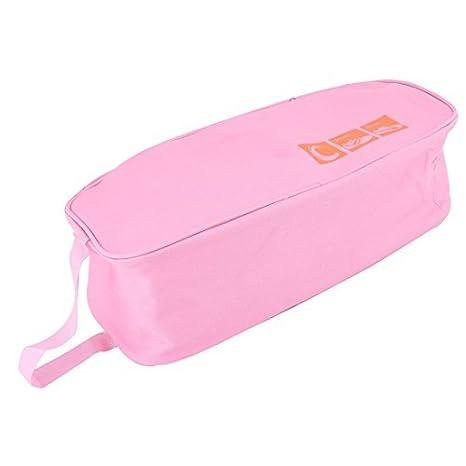 Amazon.com: eDealMax Zapatos resistentes Tela de Oxford Inicio cremallera de agua EQUIPAJE embalaje Bolsa de almacenamiento rosada del viaje: Home & Kitchen